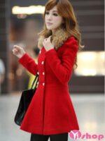 Áo khoác dạ nữ dáng xòe đẹp ấm áp tới công sở thời thượng thu đông 2021 – 2022