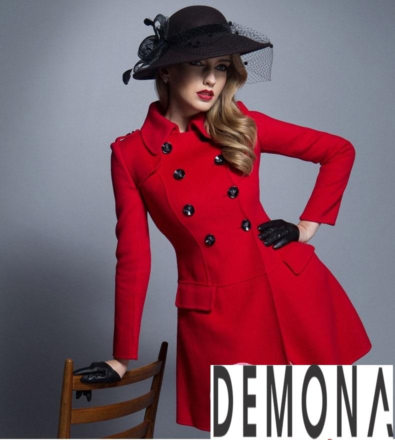 Áo khoác dạ nữ dáng xòe màu đỏ đẹp quyến rũ thu đông 2021 - 2022 phần 1