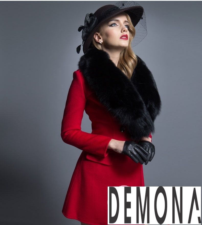 Áo khoác dạ nữ dáng xòe màu đỏ đẹp quyến rũ thu đông 2021 - 2022 phần 10