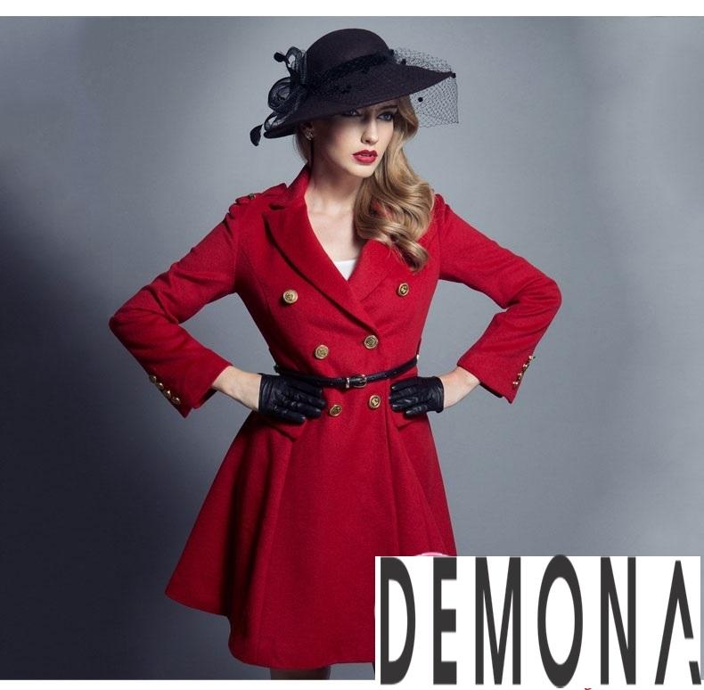 Áo khoác dạ nữ dáng xòe màu đỏ đẹp quyến rũ thu đông 2021 - 2022 phần 11