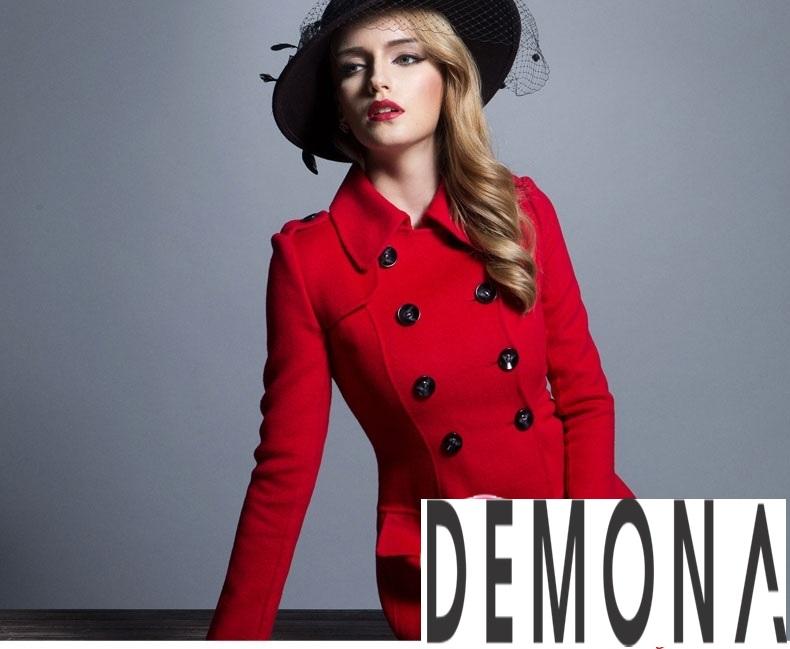 Áo khoác dạ nữ dáng xòe màu đỏ đẹp quyến rũ thu đông 2021 - 2022 phần 2