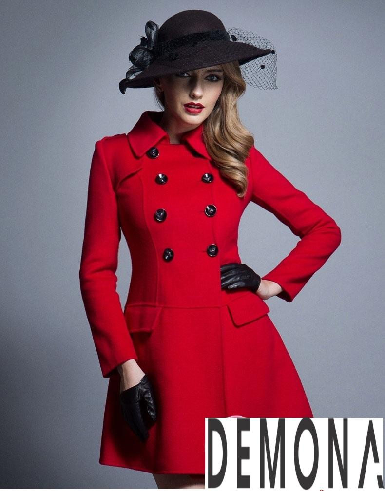 Áo khoác dạ nữ dáng xòe màu đỏ đẹp quyến rũ thu đông 2021 - 2022 phần 3