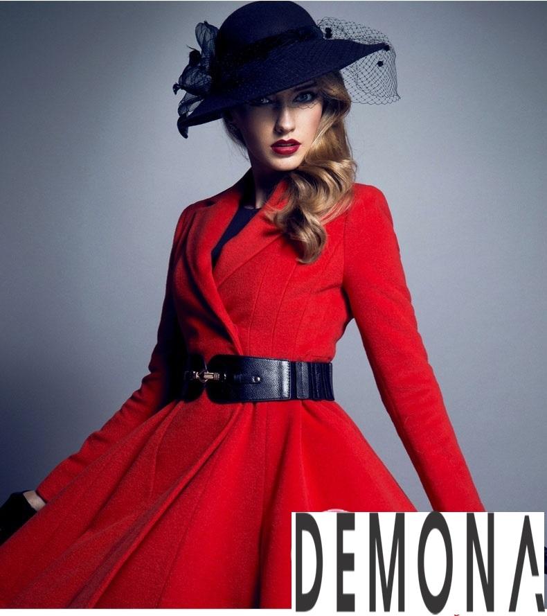 Áo khoác dạ nữ dáng xòe màu đỏ đẹp quyến rũ thu đông 2021 - 2022 phần 6