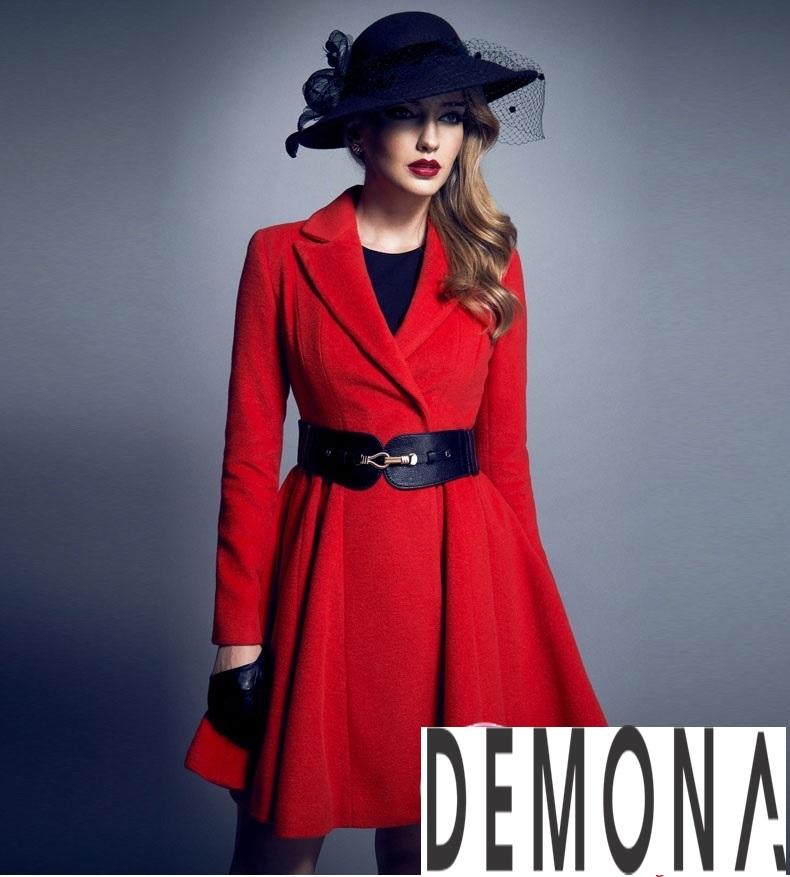 Áo khoác dạ nữ dáng xòe màu đỏ đẹp quyến rũ thu đông 2021 - 2022 phần 7