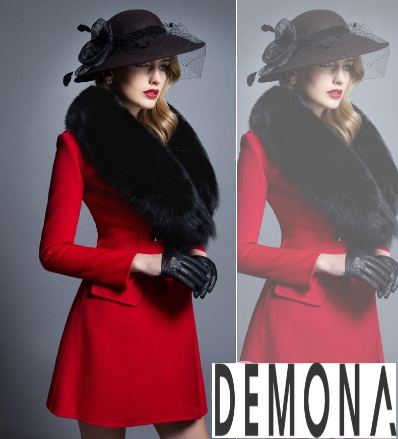 Áo khoác dạ nữ dáng xòe màu đỏ đẹp quyến rũ thu đông 2021 - 2022 phần 8