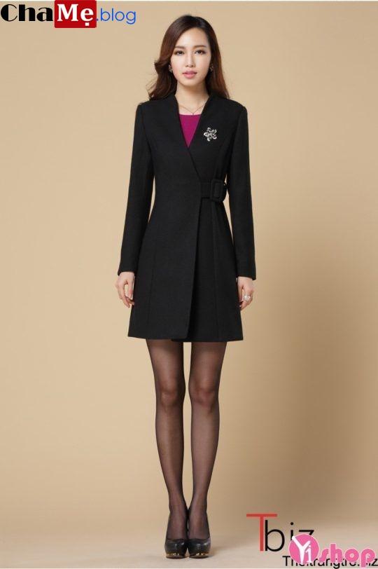 Áo khoác dạ nữ đẹp Hàn Quốc thời trang thu đông 2021 - 2022 ấm áp