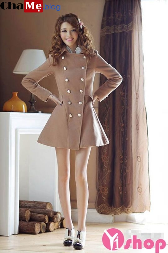 Áo khoác dạ nữ đẹp kiểu dáng sang trọng tinh tế đông 2021 - 2022