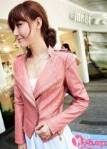 Áo khoác da nữ đẹp kiểu Hàn Quốc được yêu thích nhất thu đông 2021 – 2022