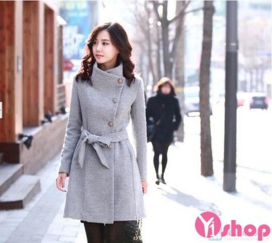 Áo khoác dạ nữ đẹp kiểu Hàn Quốc không lạnh thu đông 2019