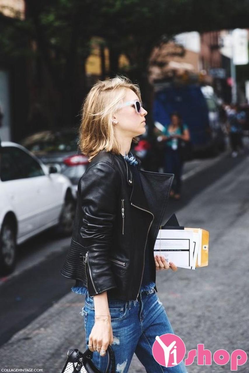 Áo khoác da nữ đẹp thu đông 2019 cho nàng phong cách sành điệu