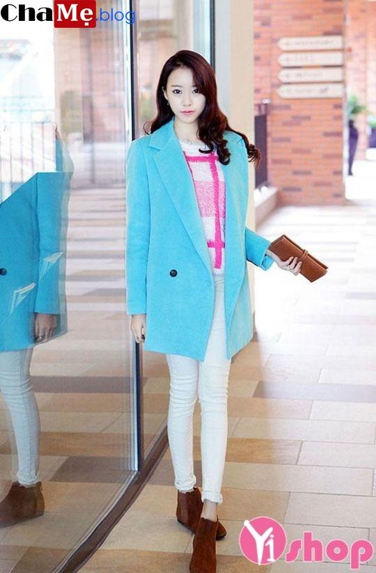Áo khoác dạ nữ Hàn Quốc đẹp ấm áp đông 2021 - 2022 hợp mọi vóc dáng