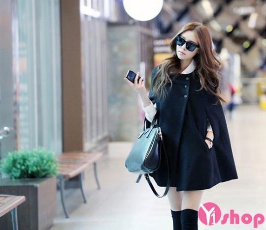 Áo khoác dạ nữ Hàn Quốc đẹp nhất thu đông 2019 tránh rét ấm áp
