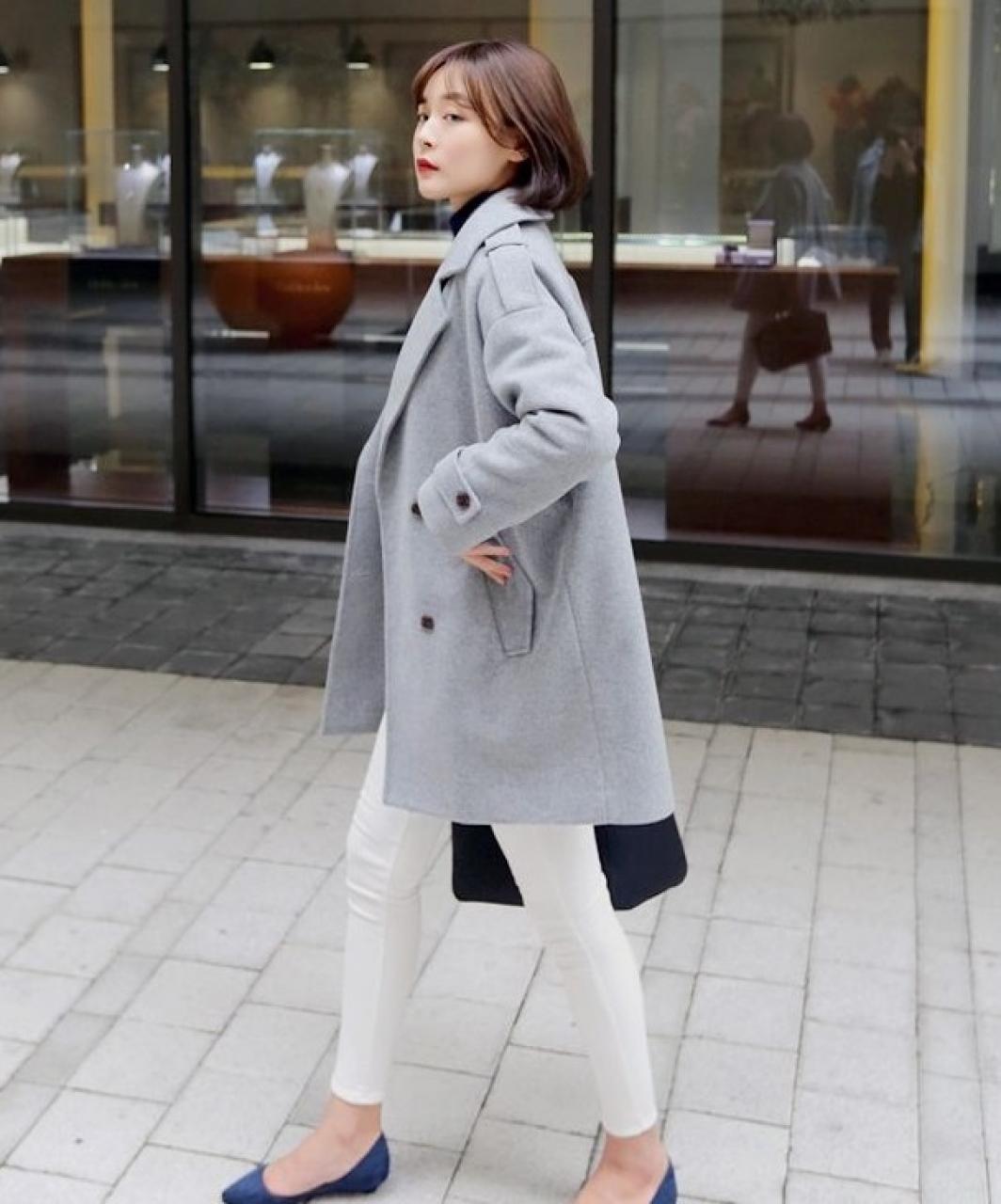 Áo khoác dạ nữ hàn quốc đẹp phong cách thời trang sành điệu thu đông 2019