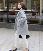 Áo khoác dạ nữ hàn quốc đẹp phong cách thời trang sành điệu thu đông 2021 – 2022
