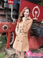 Áo khoác dạ nữ Hàn Quốc đẹp thời trang công sở 2021 – 2022