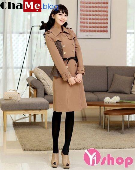 Áo khoác dạ nữ Hàn Quốc đẹp thời trang công sở 2021 - 2022