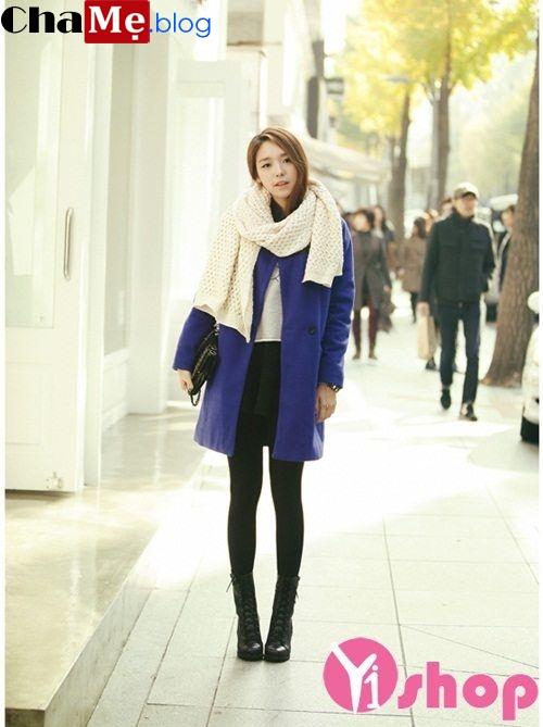 Áo khoác dạ nữ Hàn Quốc đẹp thu đông 2021 - 2022 thanh lịch tinh tế