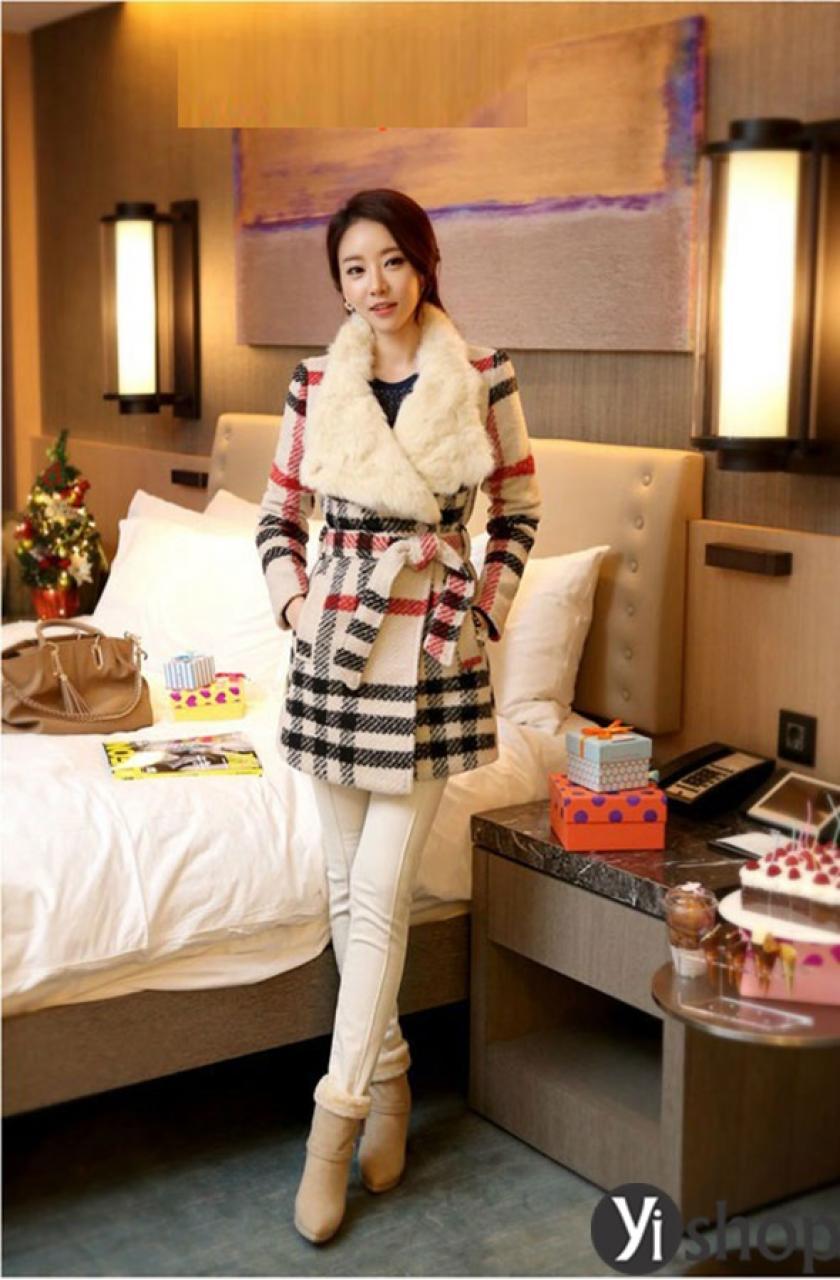 Áo khoác dạ nữ Hàn Quốc đẹp thu đông 2019 không bao giờ lỗi mốt