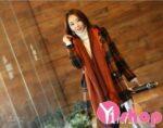 Áo khoác dạ nữ kẻ caro đẹp thu đông 2021 – 2022 kiểu Hàn Quốc ấm áp