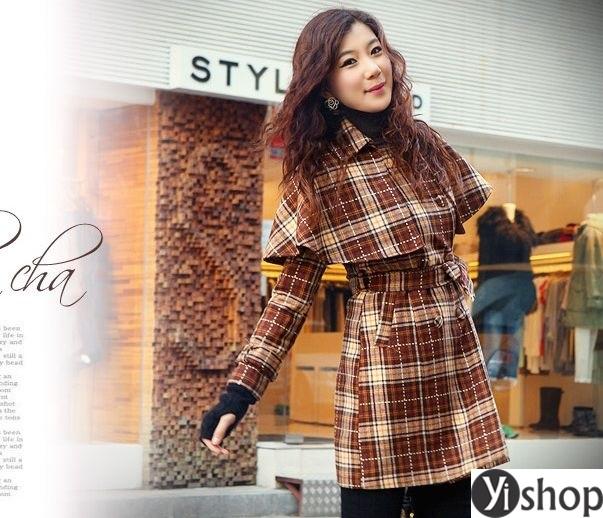 Áo khoác dạ nữ kẻ caro đẹp xu hướng thời trang công sở thu đông 2021 - 2022 phần 9
