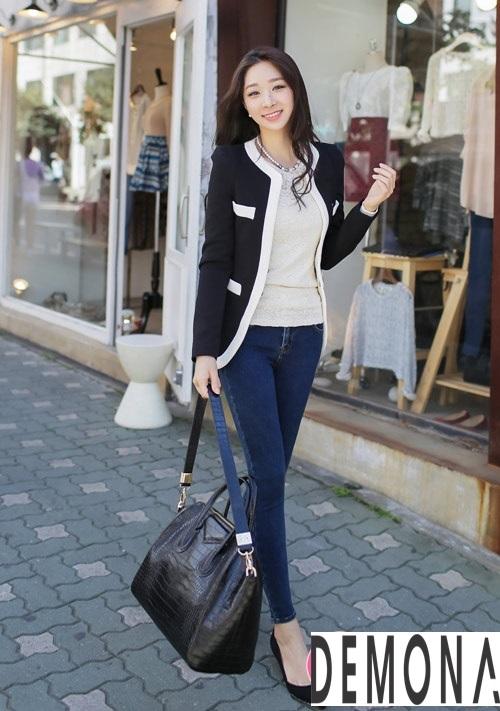 Áo khoác dạ nữ không cổ đẹp đông 2021 - 2022 được yêu thích nhất phần 1