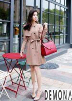 Áo khoác dạ nữ không cổ đẹp đông 2021 – 2022 được yêu thích nhất