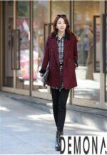 Áo khoác dạ nữ kiểu mới đẹp thu đông 2021 – 2022 cho nàng gầy cao