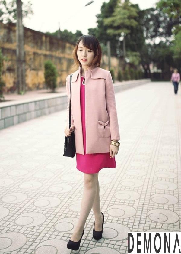 Áo khoác dạ nữ kiểu mới đẹp thu đông 2019 – 2021 cho nàng gầy cao phần 5