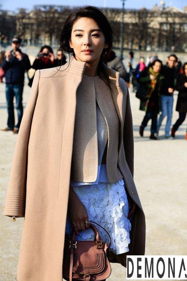 Áo khoác dạ nữ lông lạc đà đẹp xu hướng thời trang thu đông 2021 - 2022 phần 6