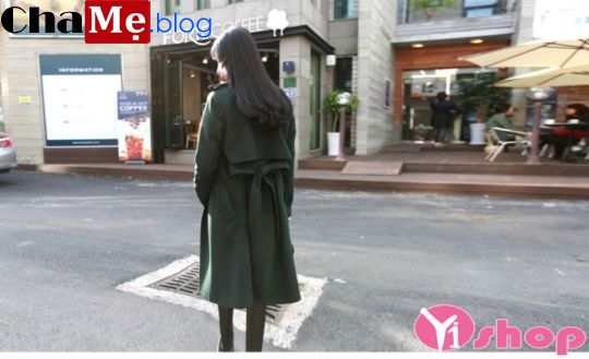 Áo khoác dạ nữ măng tô dáng dài đẹp kiểu hàn quốc đông 2021 - 2022