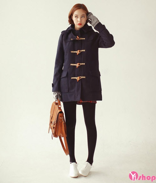 Áo khoác dạ nữ măng tô đẹp kiểu Hàn Quốc không lạnh thu đông 2021 - 2022