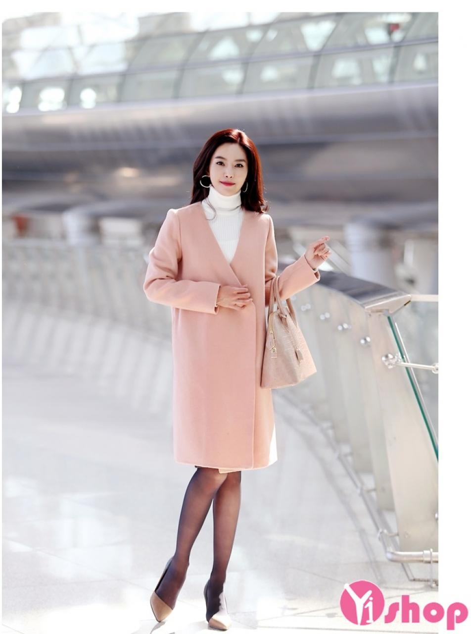 Áo khoác dạ nữ măng tô đẹp thu đông 2019 sành điệu tới công sở