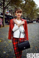 Áo khoác da nữ màu đỏ dáng ngắn đẹp xu hướng thu đông 2021 – 2022