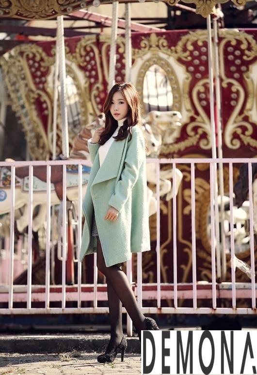 Áo khoác dạ nữ màu pastel đẹp đông 2019 – 2021 công sở trang nhã phần 12