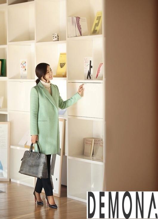 Áo khoác dạ nữ màu pastel đẹp đông 2019 – 2021 công sở trang nhã phần 7