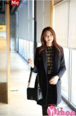 Áo khoác dạ nữ nỉ dáng blazer dài đẹp công sở tinh tế đông 2021 – 2022