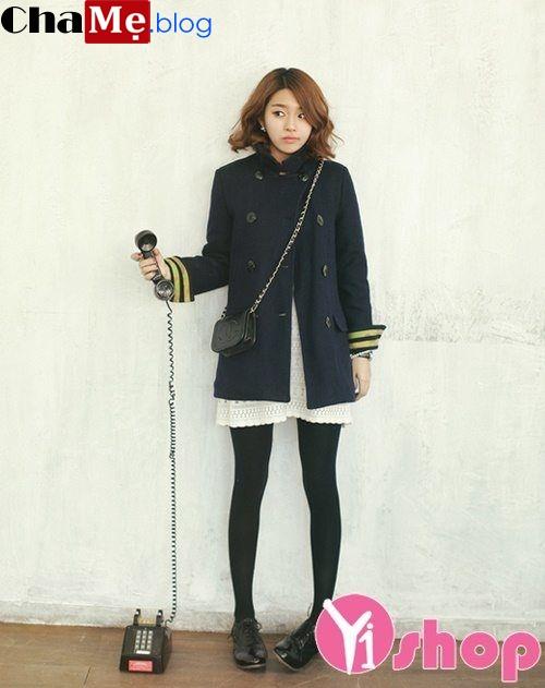 Áo khoác dạ nữ oversize đẹp kiểu Hàn Quốc cá tính đông 2021 - 2022