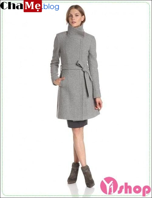 Áo khoác dạ nữ thắt đai lưng đẹp thu đông 2021 - 2022 không lạnh ấm áp