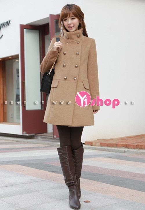 Áo khoác dạ nữ thắt eo đẹp dịu dàng tới công sở thu đông 2019