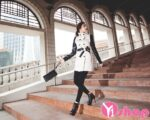 Áo khoác dạ nữ thắt lưng đẹp phong cách Hàn Quốc trẻ trung thu đông 2021 – 2022