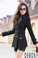 Áo khoác dạ nữ thắt lưng đẹp thu đông 2021 – 2022 tôn dáng chuẩn