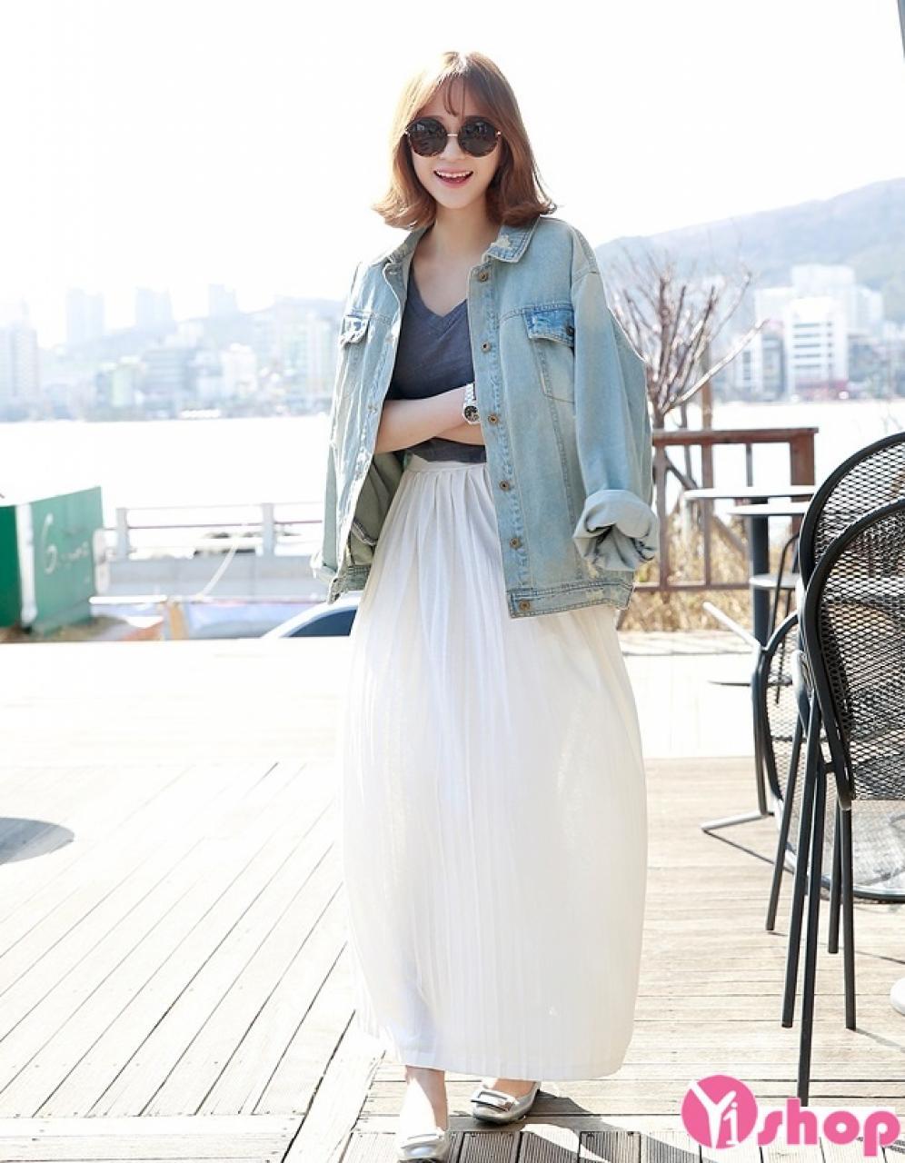 Áo khoác denim nữ đẹp thu đông 2019 xu hướng thời trang ngày lạnh
