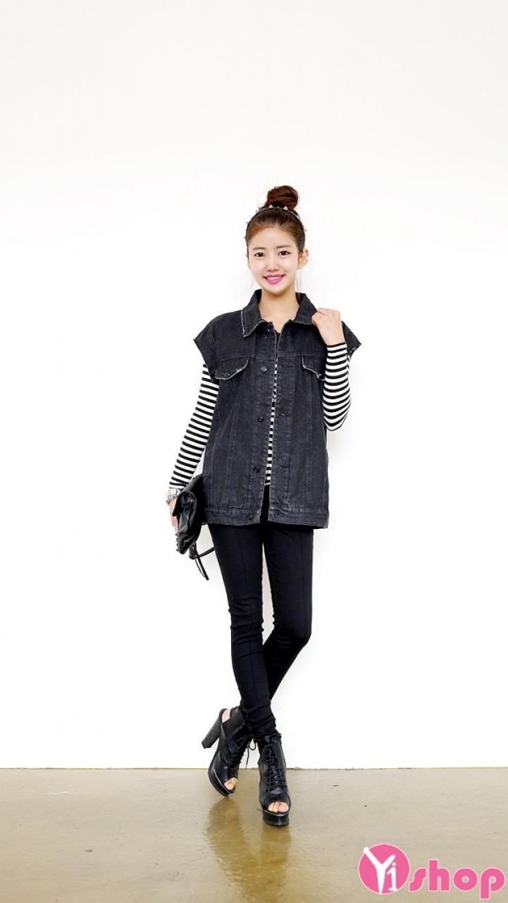 Áo khoác gile nữ Hàn Quốc đẹp được yêu thích nhất thu đông 2019