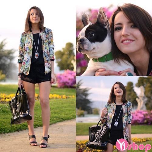 Áo khoác jacket bomber nữ đẹp cá tính thu đông 2019 street style