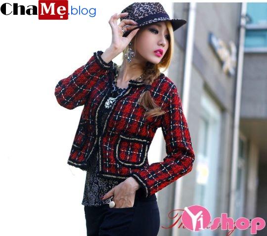 Áo khoác jacket nữ đẹp kiểu Hàn Quốc dạo phố đông 2021 - 2022