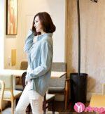 Áo khoác jean nữ đẹp kiểu Hàn Quốc khỏe khoắn nhất thu đông 2021 – 2022