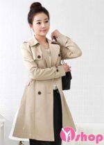 Áo khoác kaki nữ Hàn Quốc đẹp cho nàng công sở xinh xắn thu đông 2021 – 2022