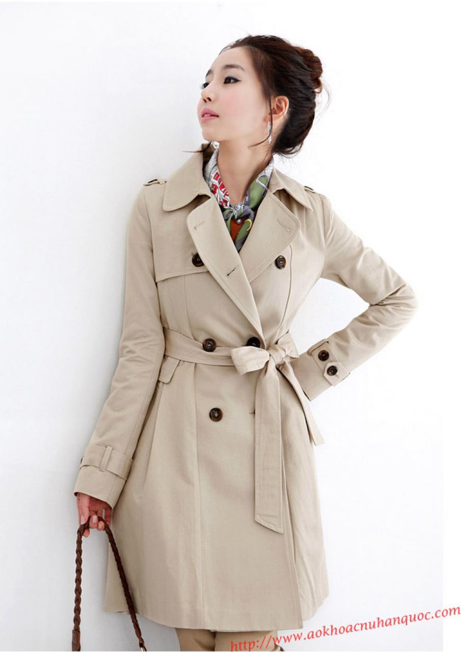 Áo khoác kaki nữ Hàn Quốc đẹp cho nàng phong cách sang trọng thu đông 2019