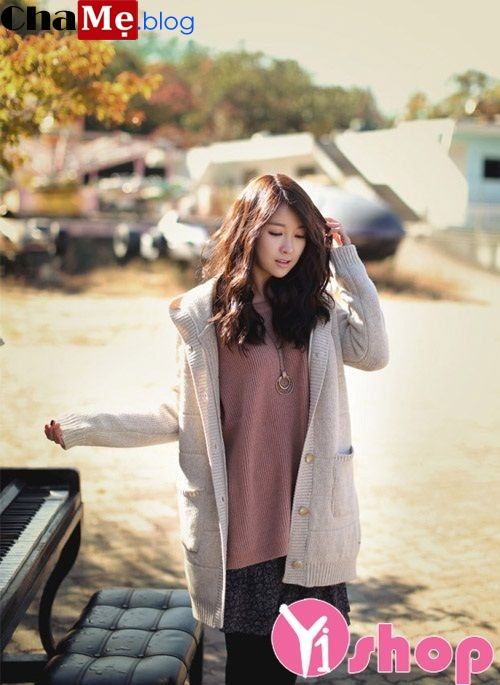 Áo khoác len cardigan nữ đẹp đông 2021 - 2022 sành điệu không lạnh