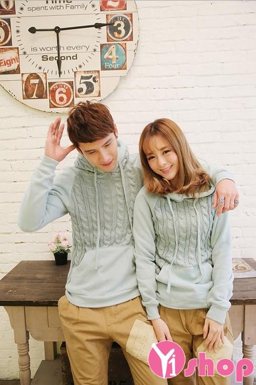 Áo khoác len đôi đẹp thu đông 2019 ấm áp không lạnh ngày lễ tình nhân